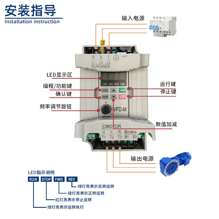 500系列变频器安装指导