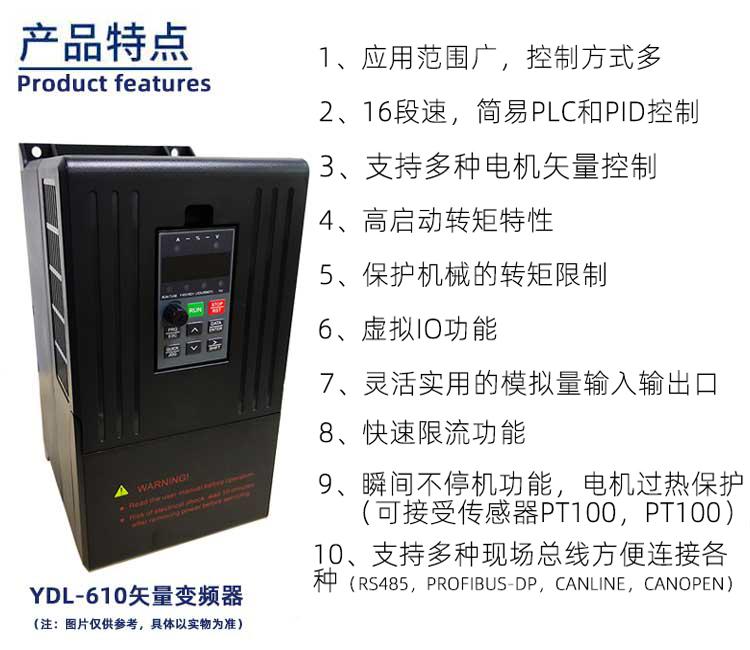 610系列变频器产品特点
