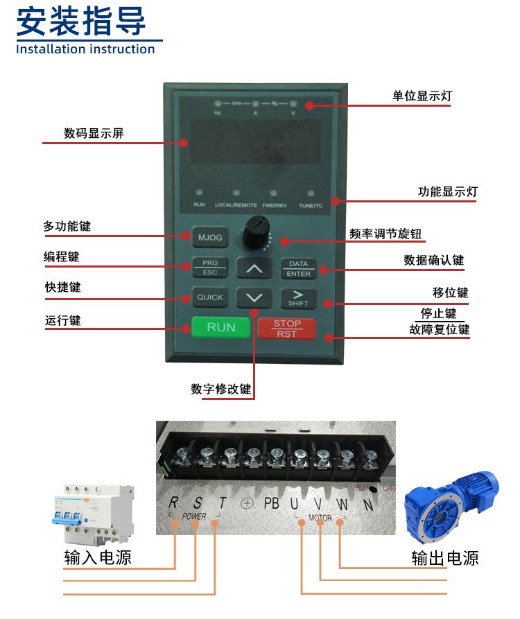 650S系列变频器安装指导