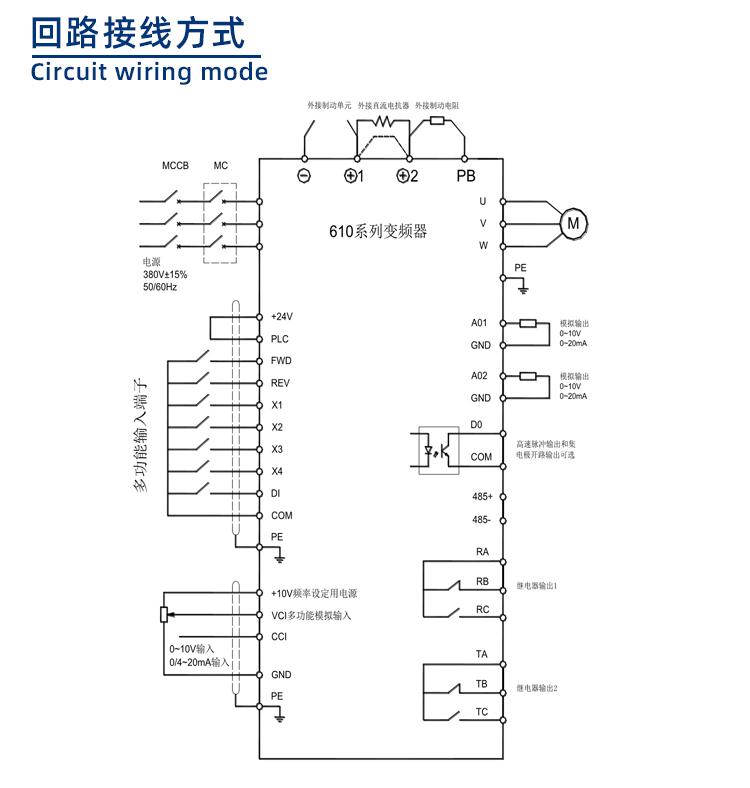 610系列变频器回路接线方式
