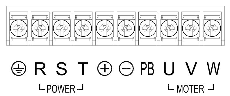 650S-0R7-5R5主回路端子接线图